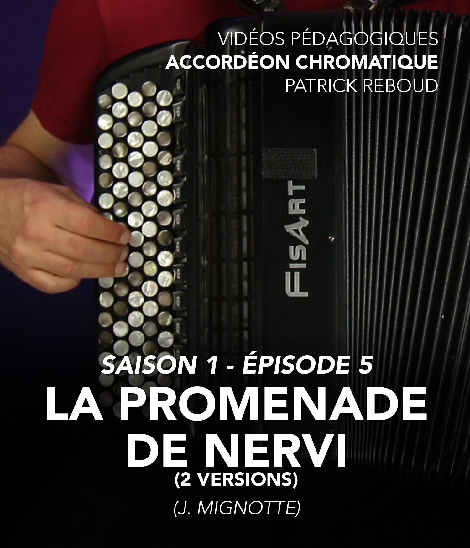 Online teaching videos - Chromatic accordion - Patrick Reboud