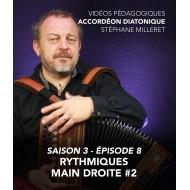 Stéphane Milleret - Accordéon diatonique - Saison 3 - Episode 8 : Rythmiques main droite 2eme partie