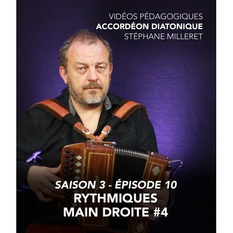 Stéphane Milleret - Accordéon diatonique - Saison 3 - Episode 10 : Rythmiques main droite 4eme partie