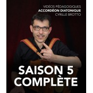 Cyrille Brotto - Vidéos pédagogiques - Accordéon diatonique - Saison 5 - complète